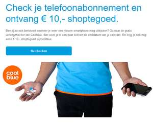 Gratis €10,- Coolblue-cadeaubon door mobile verlengingschecker (min. besteding €15) @ Coolblue