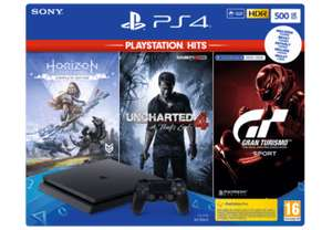 PS4 Slim 500GB + Horizon: Zero Dawn + Uncharted 4 + Gran Turismo Sport + Matterfall @ Media Markt