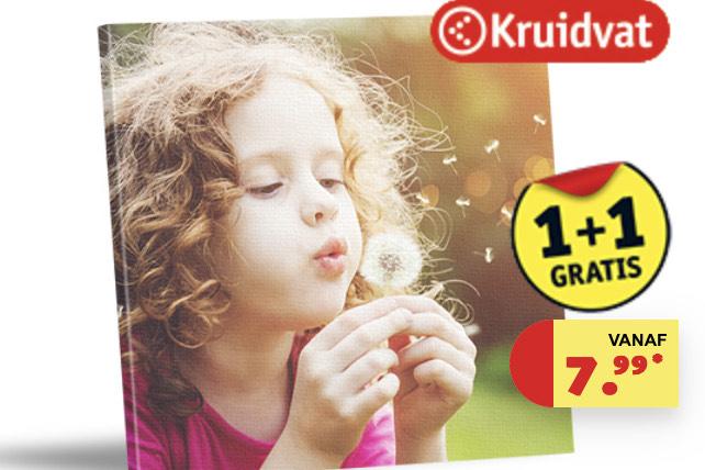 1+1 gratis op Canvas Kruidvat