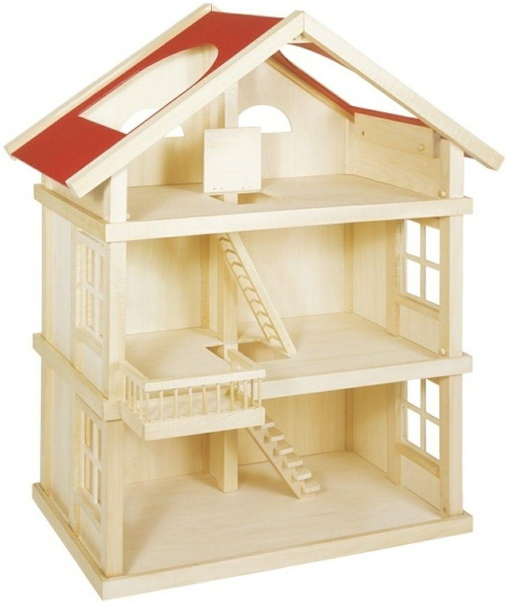 Poppenhuis: 3 etagehuis (B35xH87,5cm) @ Bol.com