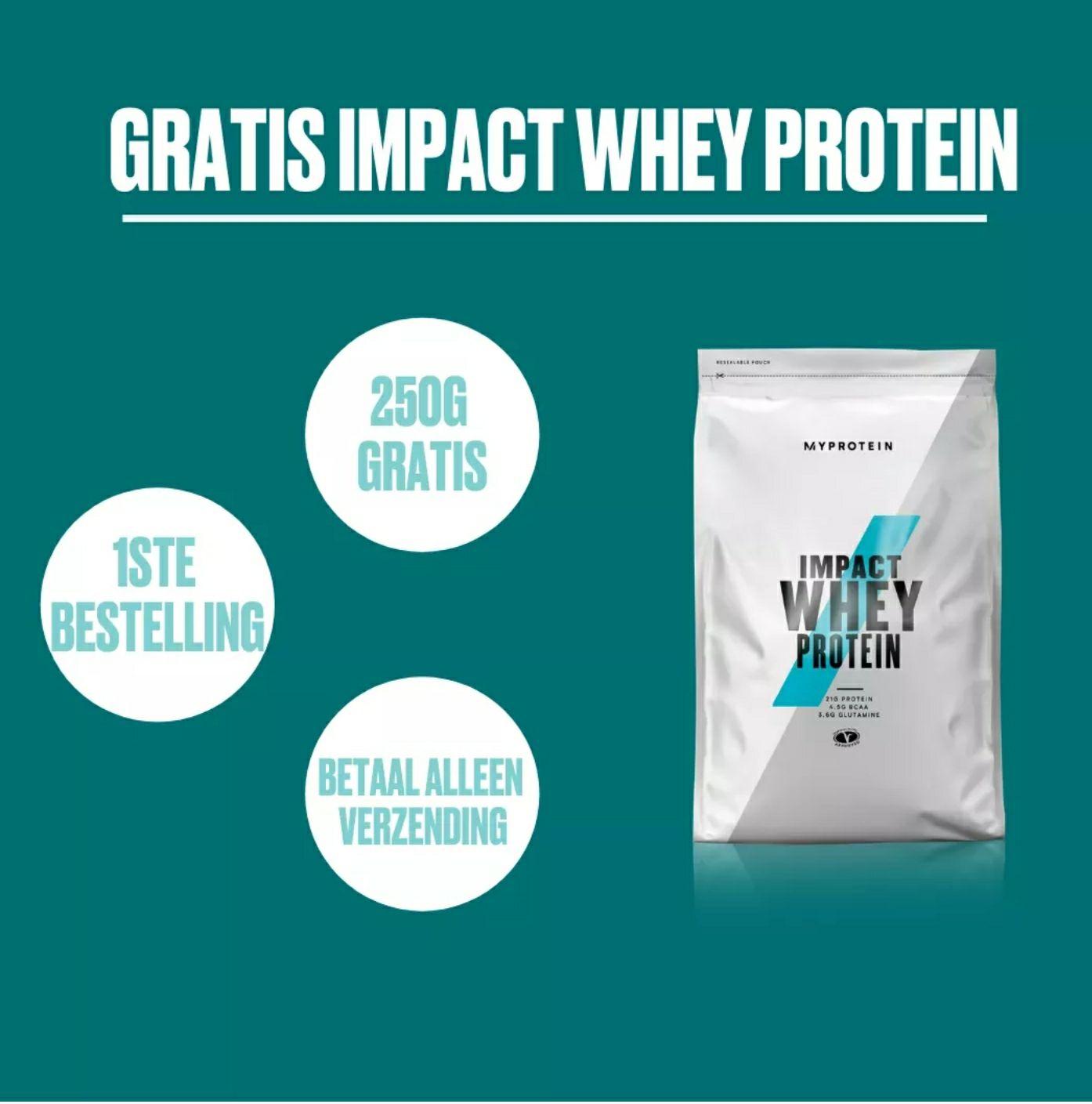 [ MYPROTEIN] GRATIS Impact Whey Protein t.w.v €8.95 (alleen verzendkosten)