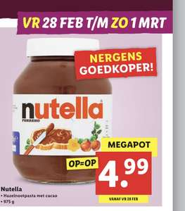 Nutella pot à 975gram