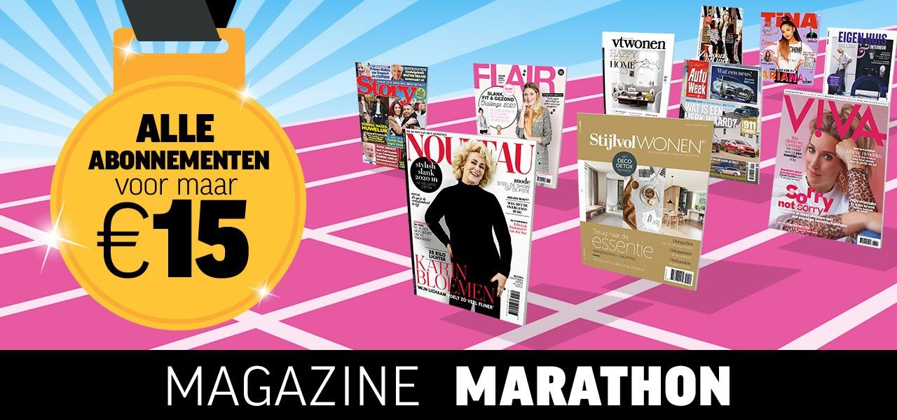 Nú alle abonnementen 15,- tijdens de Magazine Marathon!