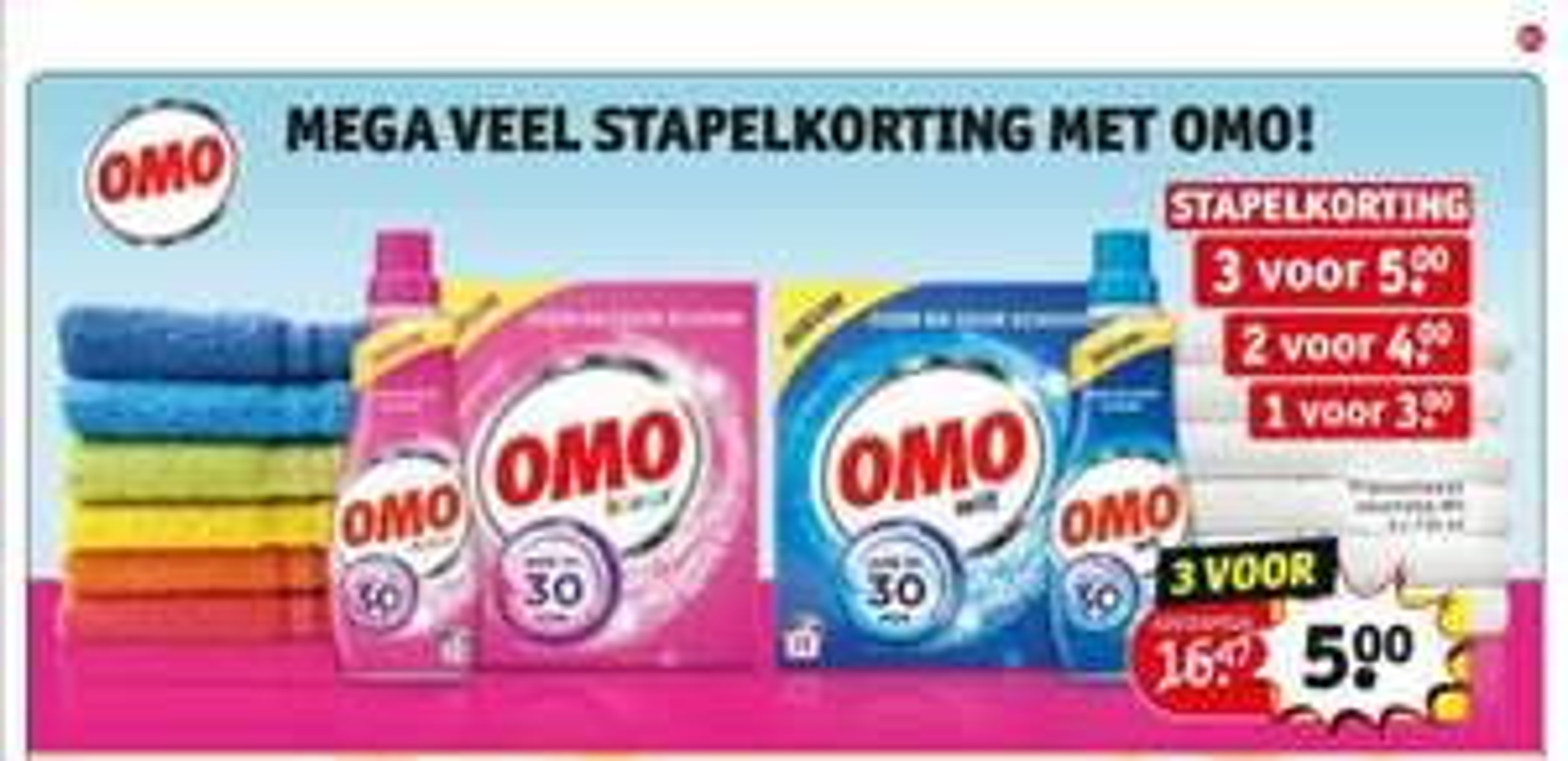 Kruidvat: Omo 3 flessen voor 5 euro