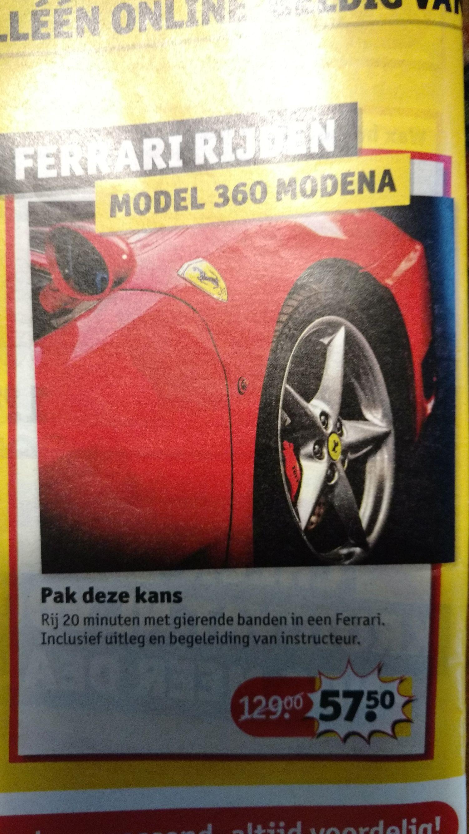 Ferrari rijden (20 min)