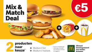 [Lokaal] McDonald's mix and match deal (Alkmaar, Den Helder, Heerhugowaard, Schagen)