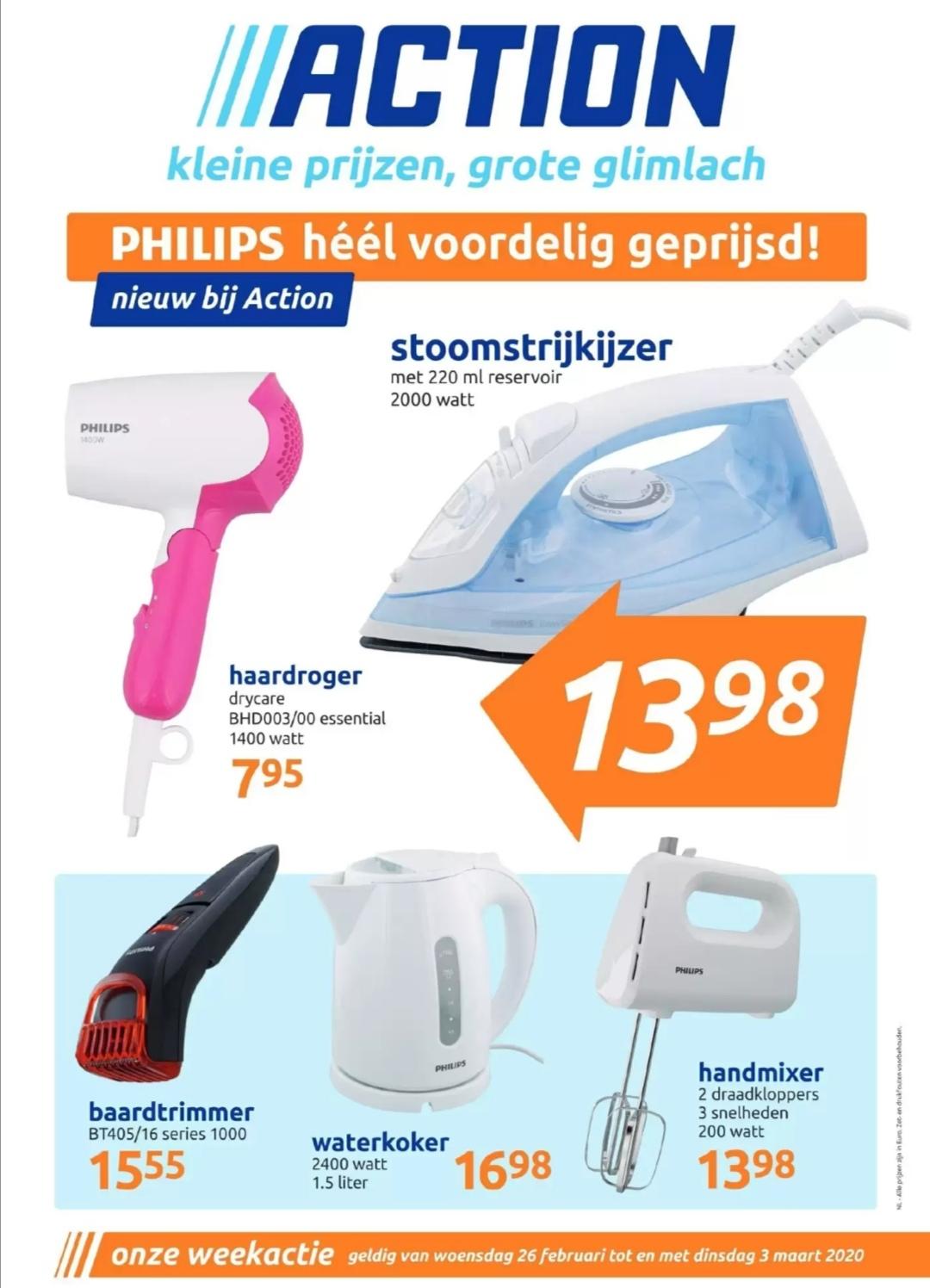 Diverse Philips producten voordelig geprijsd @ Action
