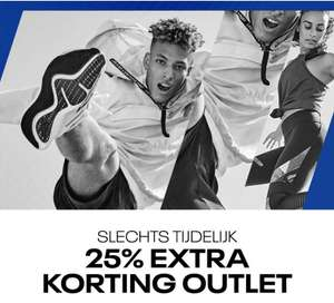 25% EXTRA korting op outlet @ Reebok