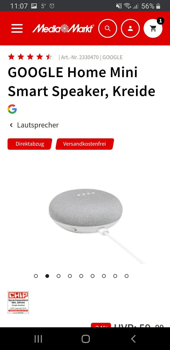 [GRENSDEAL] Google Home Smart speakers acties @Mediamarkt.de