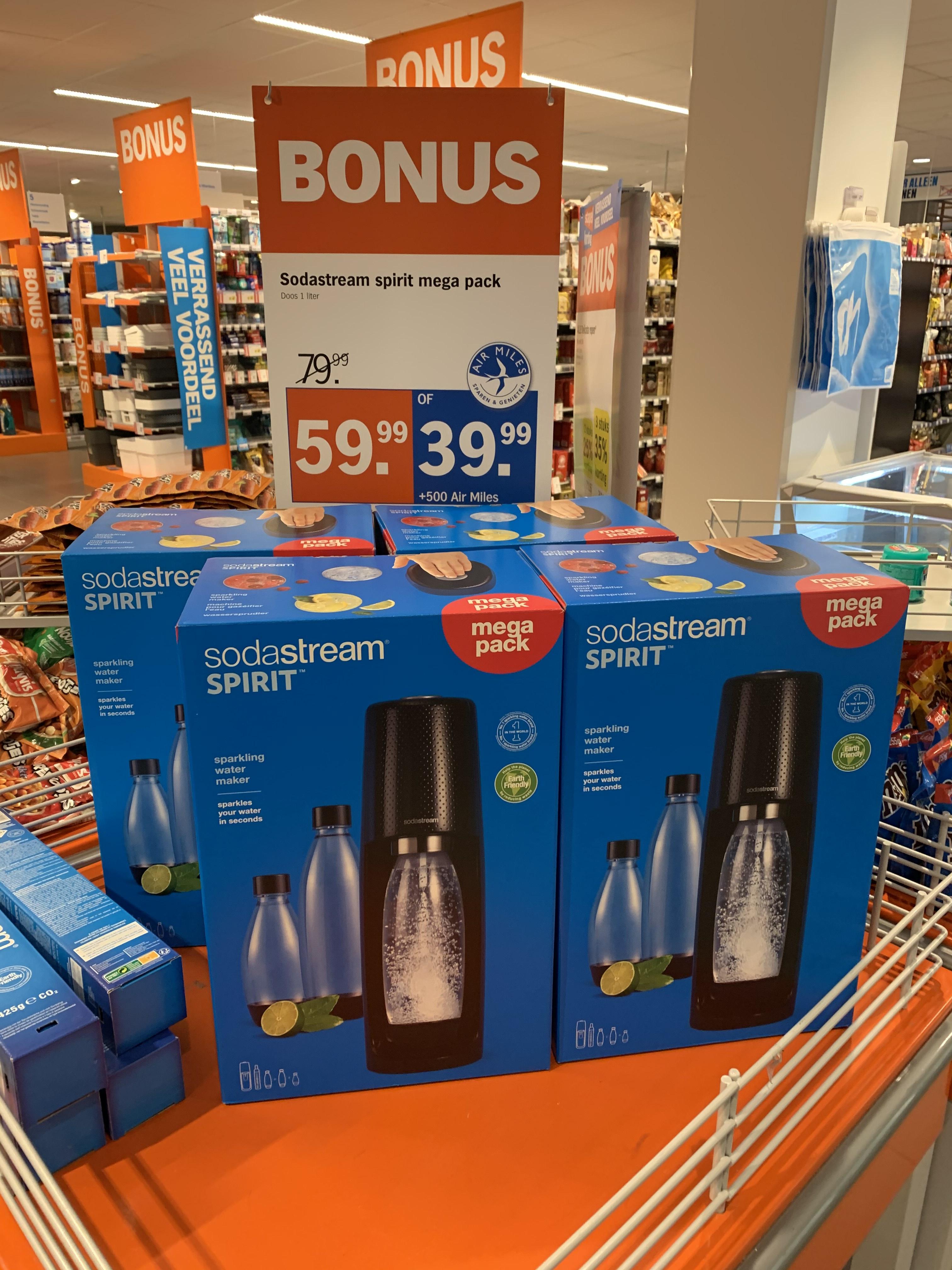 Sodastream Spirit Megapack voor €39,99 + 500 airmiles