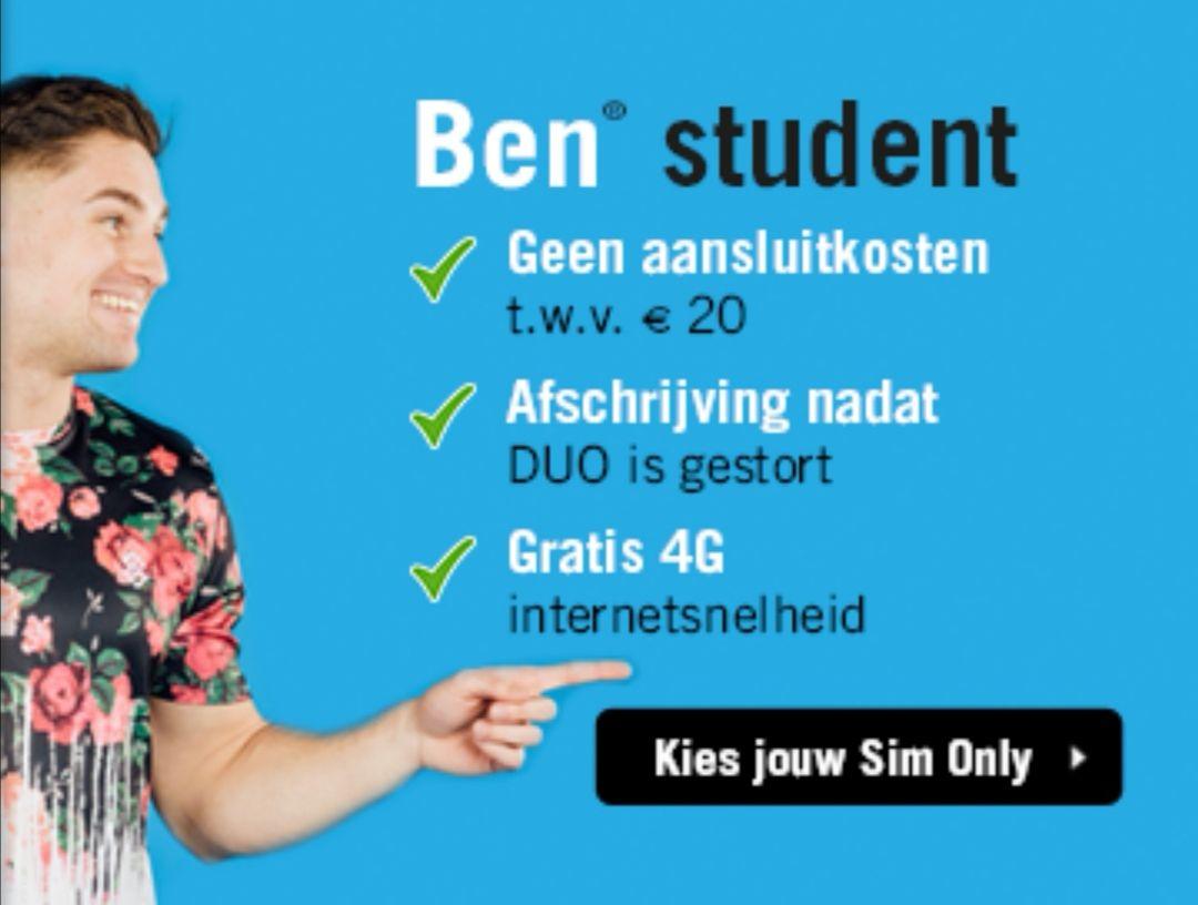 [Gratis Geld] €20 Cashback op een bestelling van €7,50 bij Ben.nl