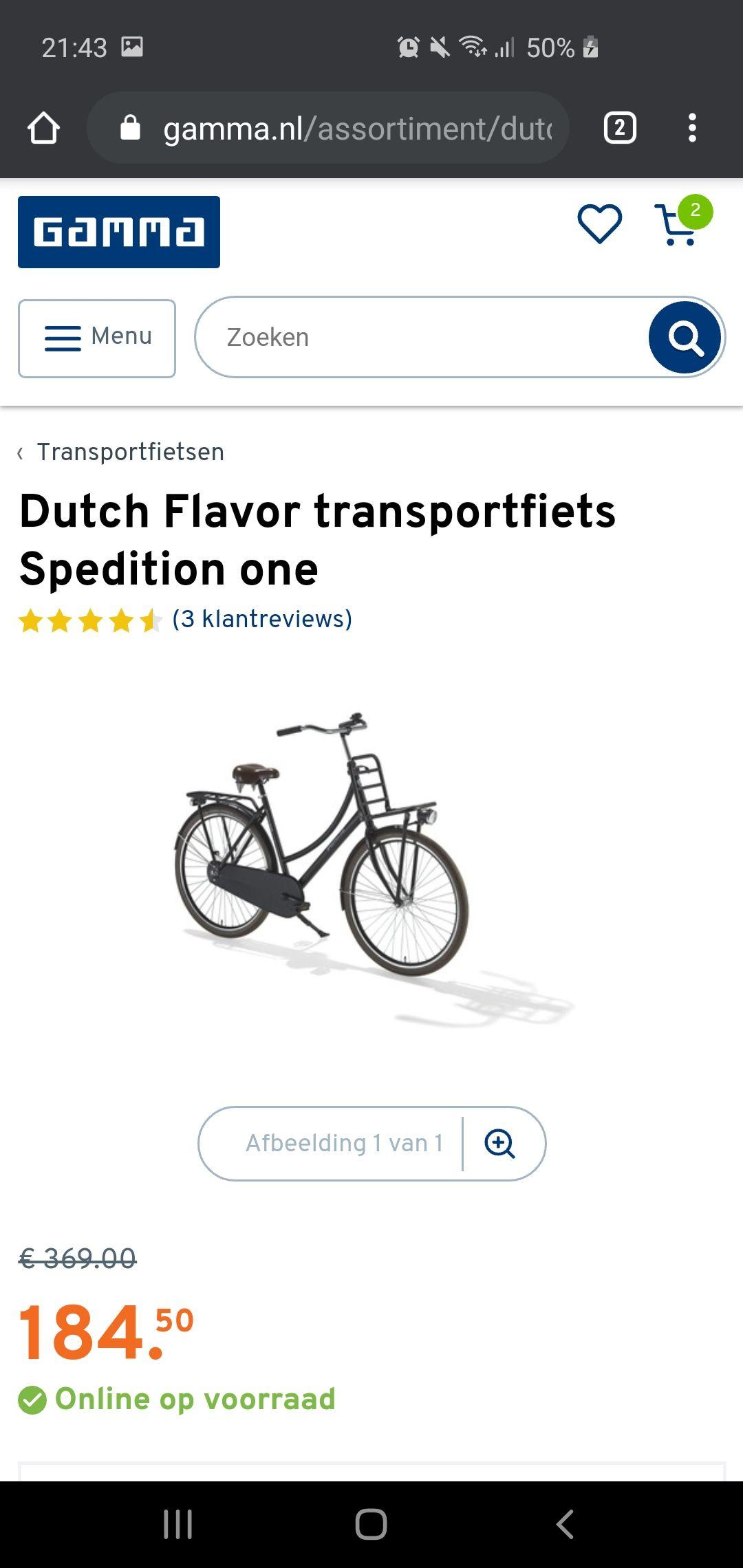 Dutch Flavor transportfiets Spedition one