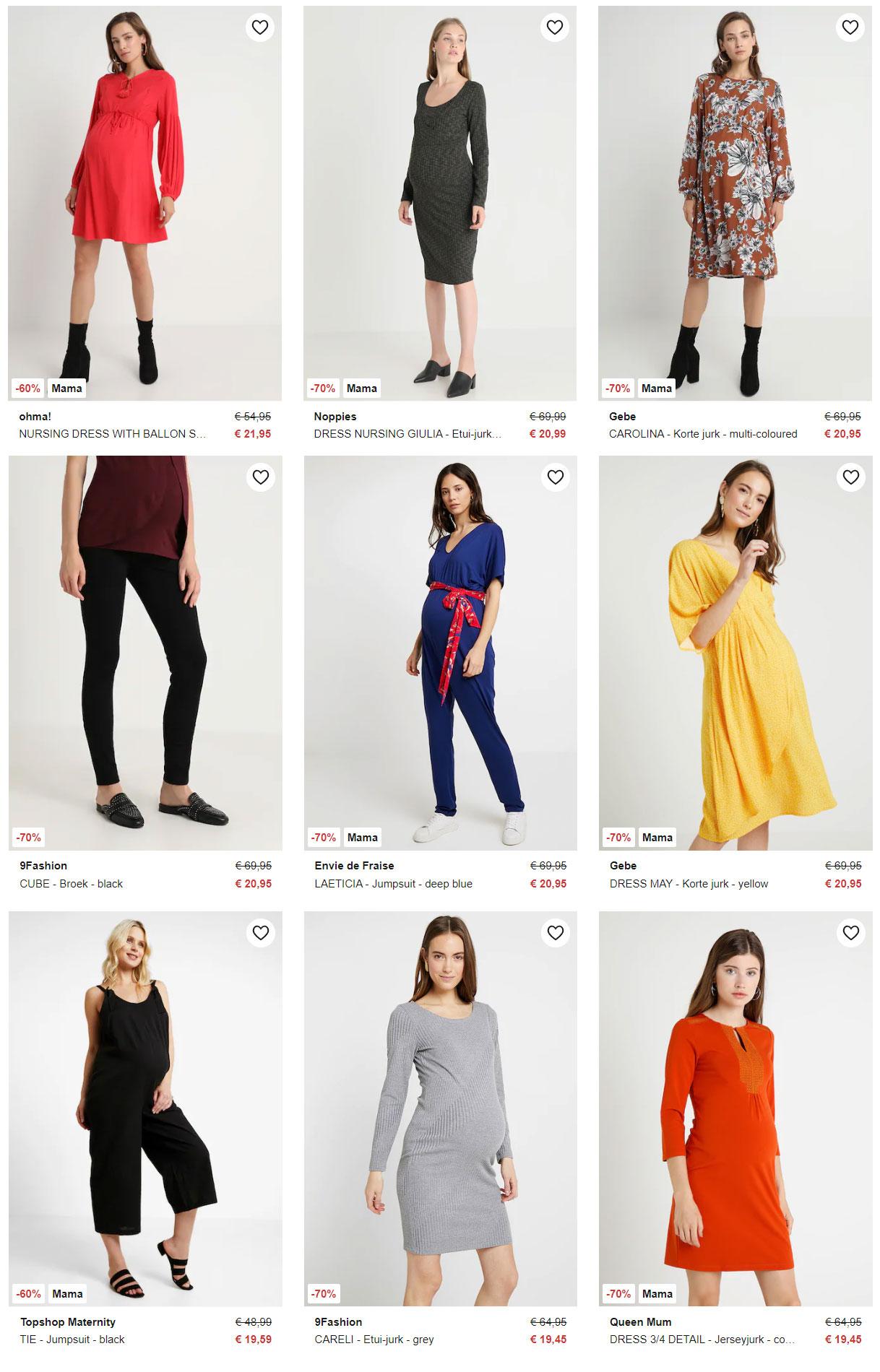 Zwangerschaps kleding 60-70% korting @ Zalando