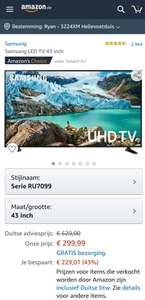 Samsung 43 inch 4K tv @Amazon.de