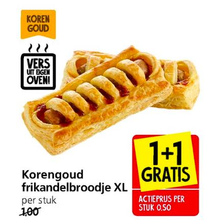 Frikandelbroodje XL 2 voor €1,- (1+1 Gratis) @Jan Linders