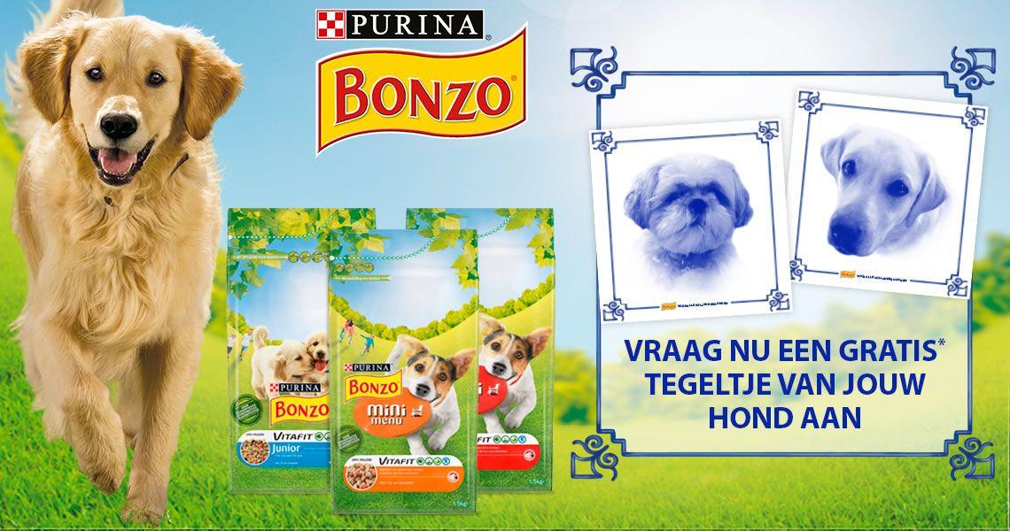 Gratis Hollands tegeltje bij aankoop van 1,5 kg Bonzo droogvoeding