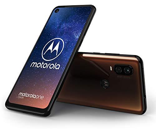 Motorola One Vision smartphone (brons/blauw)