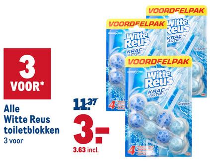 Witte Reus toiletblokken 6 stuks voor €3,63 @Makro