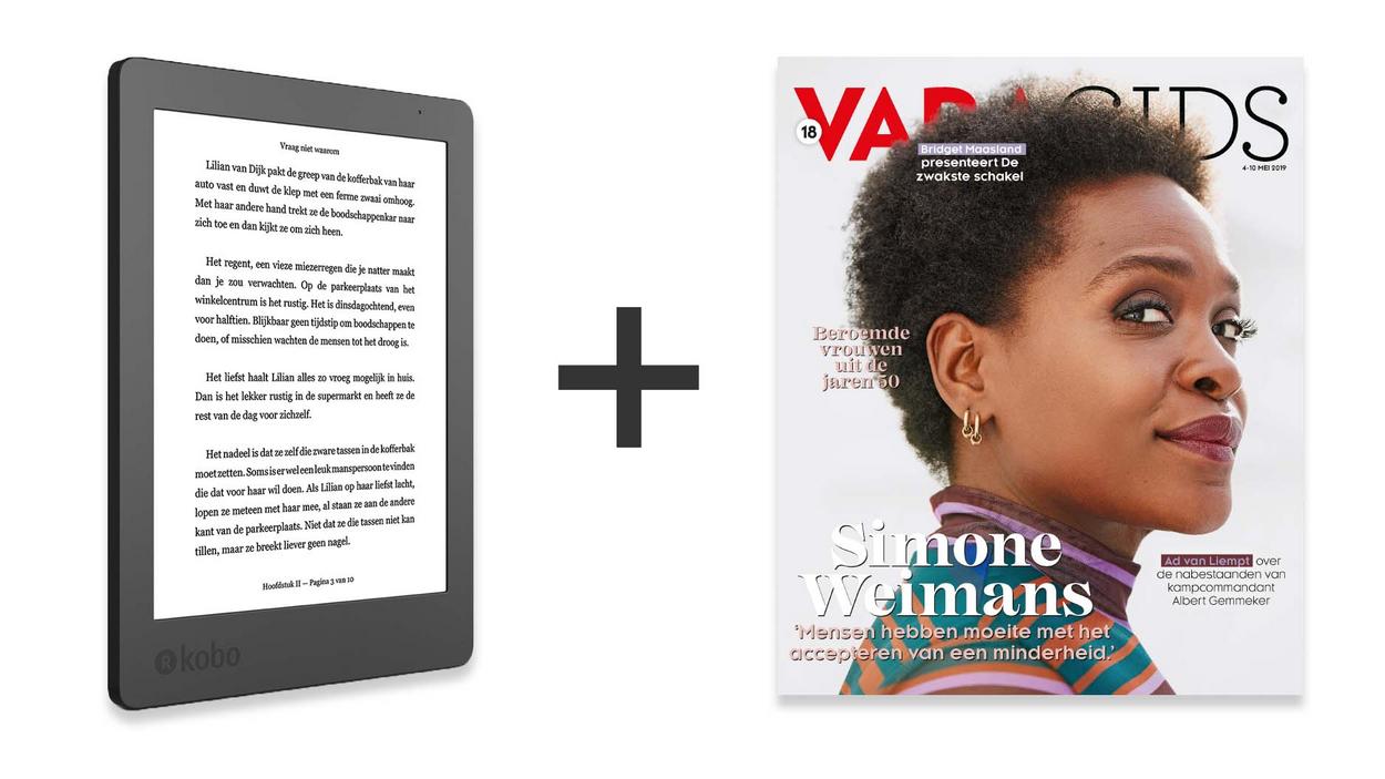KOBO E-READER bij 1 jaar VARAGIDS voor €89,95