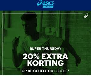 Super Thursday: 20% EXTRA korting + 10% @ Asics Outlet
