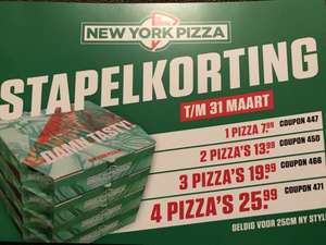 [Lokaal?] New York pizza stapelkorting