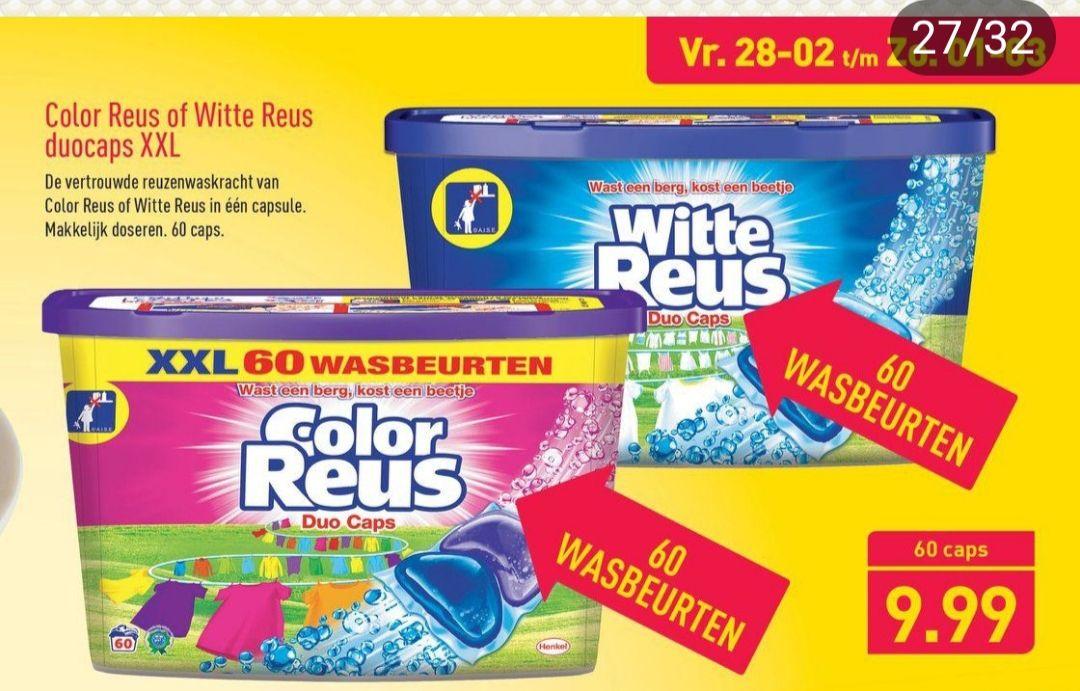 Color of Witte Reus duocaps XXL 60 Wasbeurten €9,99 @Aldi