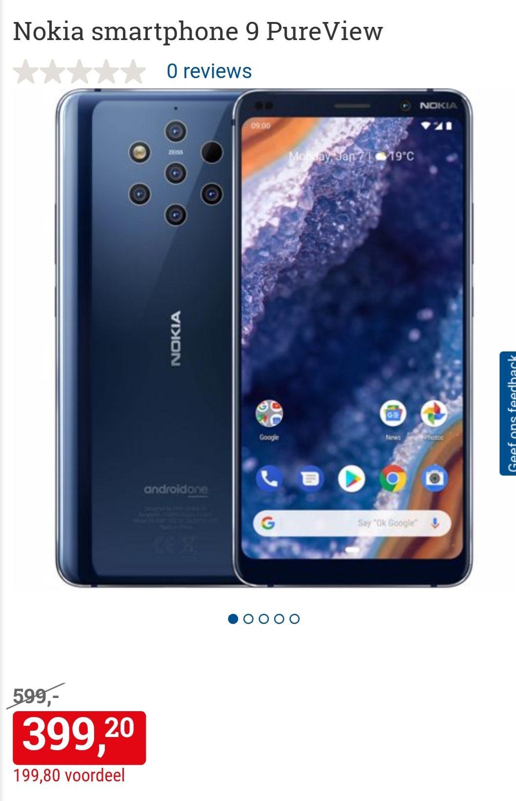 Nokia 9 PureView € 399,- @ BCC, elders vanaf € 489