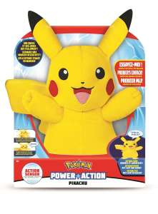 Pokémon Power Action Pikachu knuffel