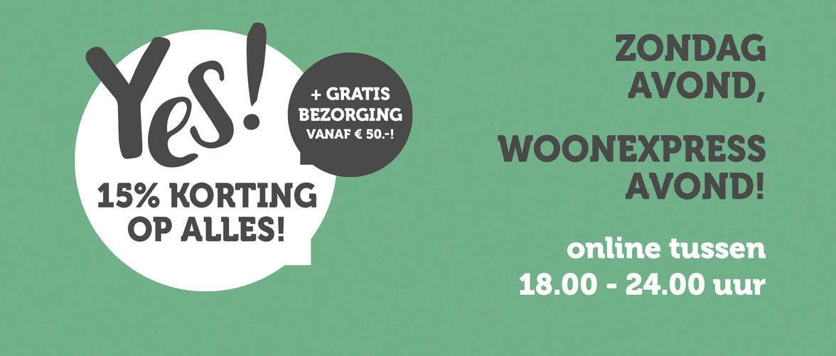 WoonExpress - 15% korting op alles (18:00-23:99)