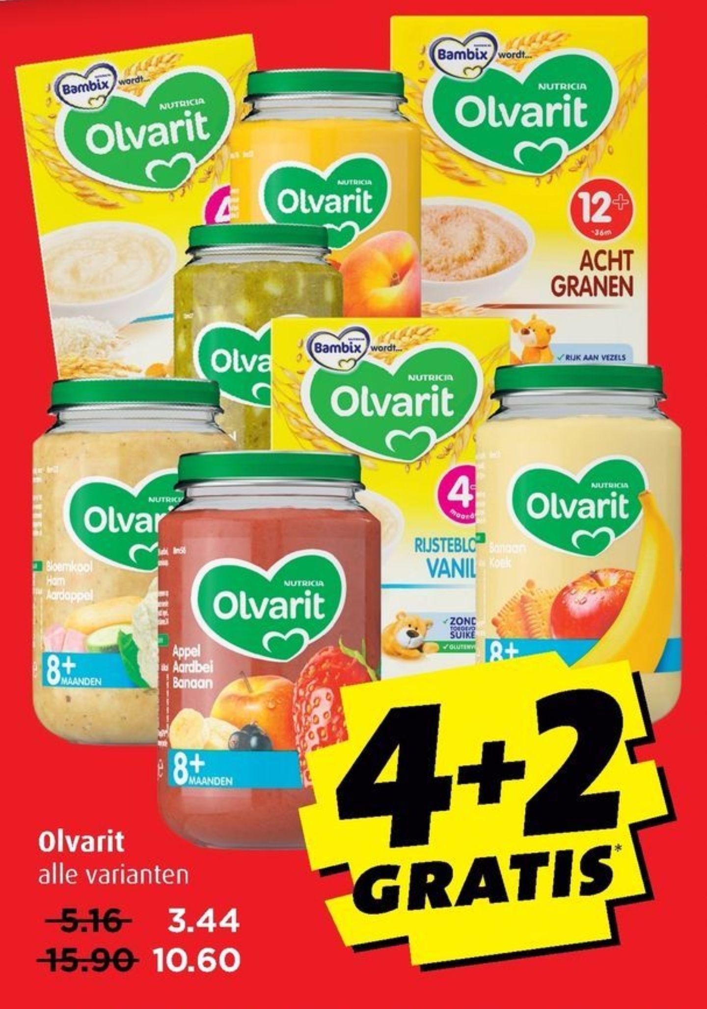 Alle Olvarit 4 + 2 gratis @Boni/Hoogvliet/Vomar