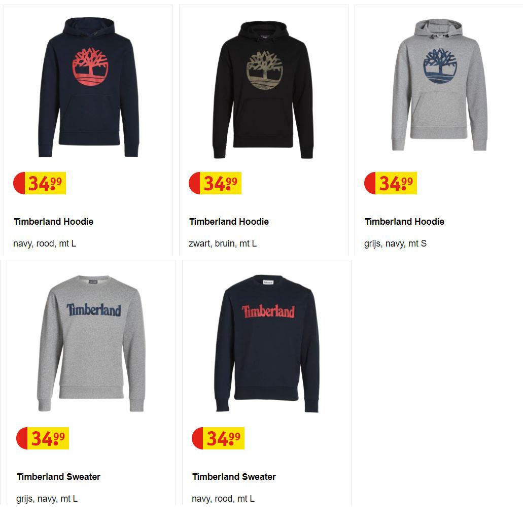 Timberland (heren) hoodie / sweater @ Kruidvat