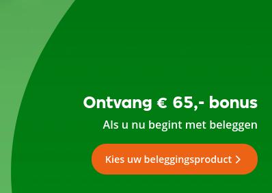 Nieuwe klanten Centraal Beheer: Ontvang € 65,- bonus bij inleg € 500,- (4 mnd beleggen)