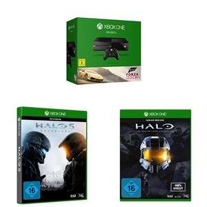 Xbox One console (500GB) + Forza Horizon 2 + Halo 5: Guardians + Halo - The Master Chief Collection voor €344,- @ Amazon.de