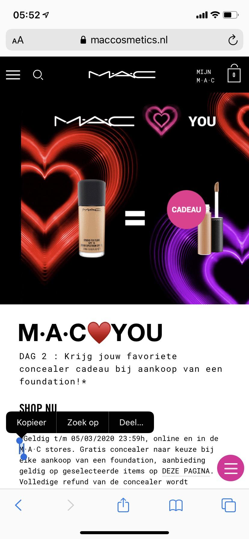 M·A·C️YOU extra concealer bij aankoop Foundation