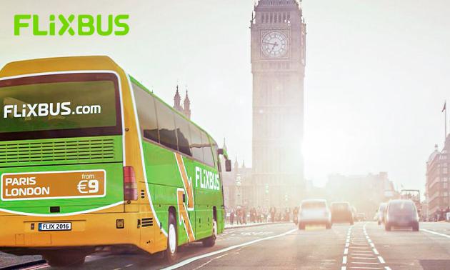 FlixBus enkele reis €11,99 - 19,99