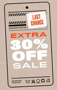 SALE + 30% EXTRA korting @ Urban Outfitters