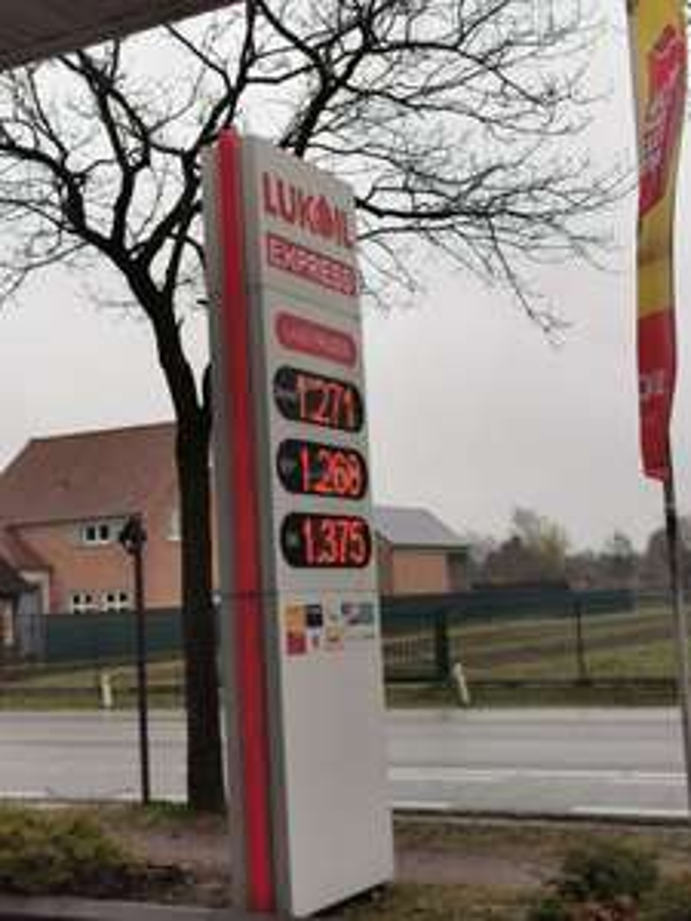 (België) Lukoil, €1,268 benzine, 1,271 diesel