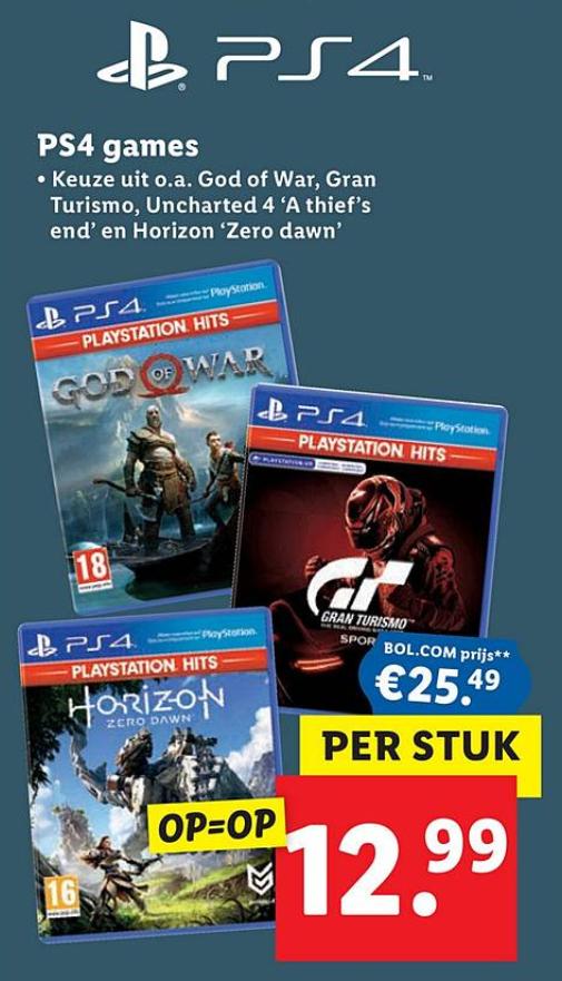 Diverse PlayStation Hits PS4 voor €12,99 (vanaf donderdag 12 maart)