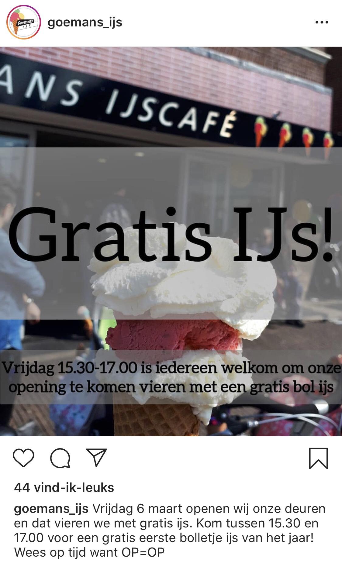 [Lokaal] Gratis ijs Zaandam - 6 maart