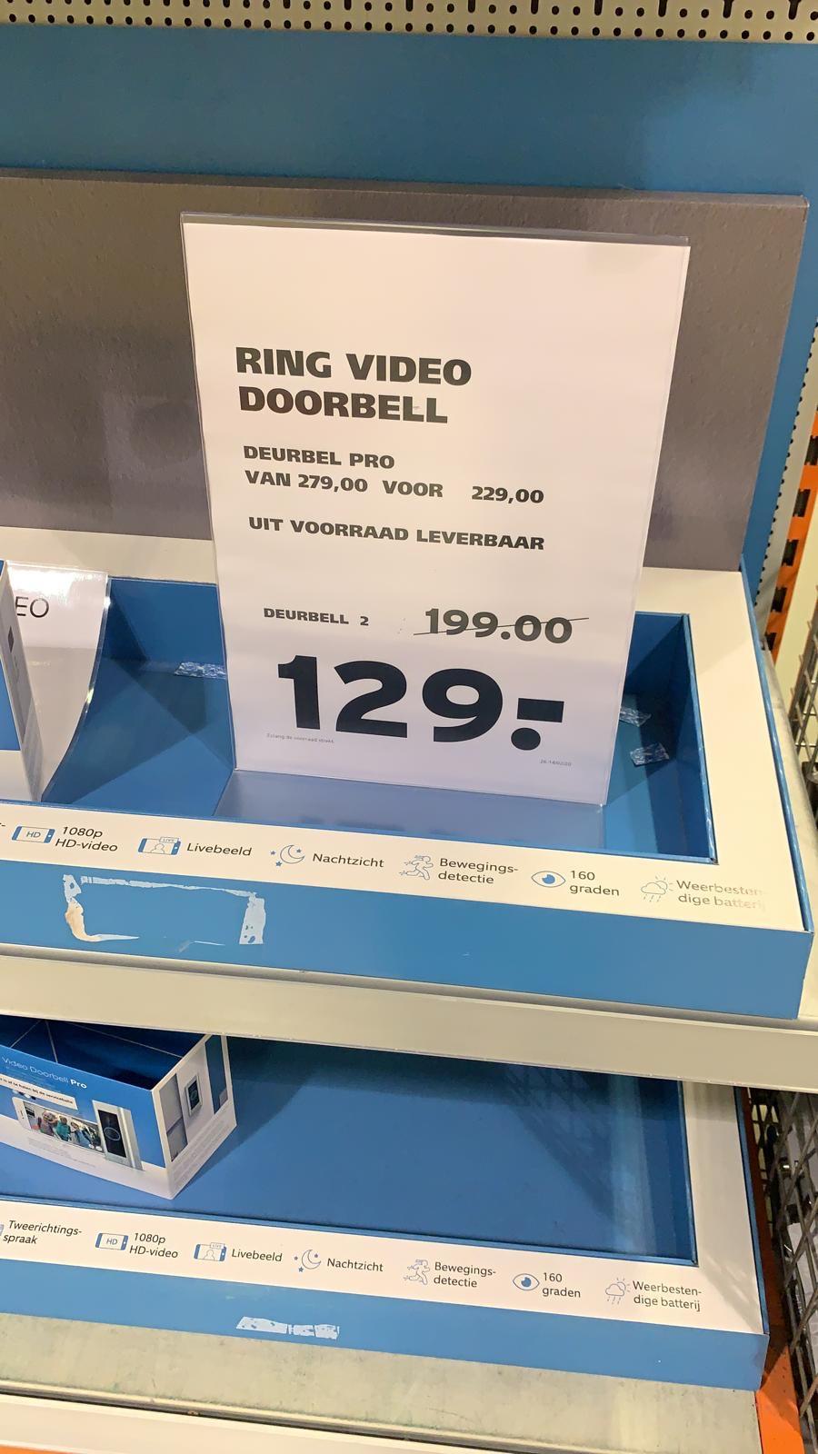 [Lokaal] Gamma Delft Ring 2 video doorbell €129