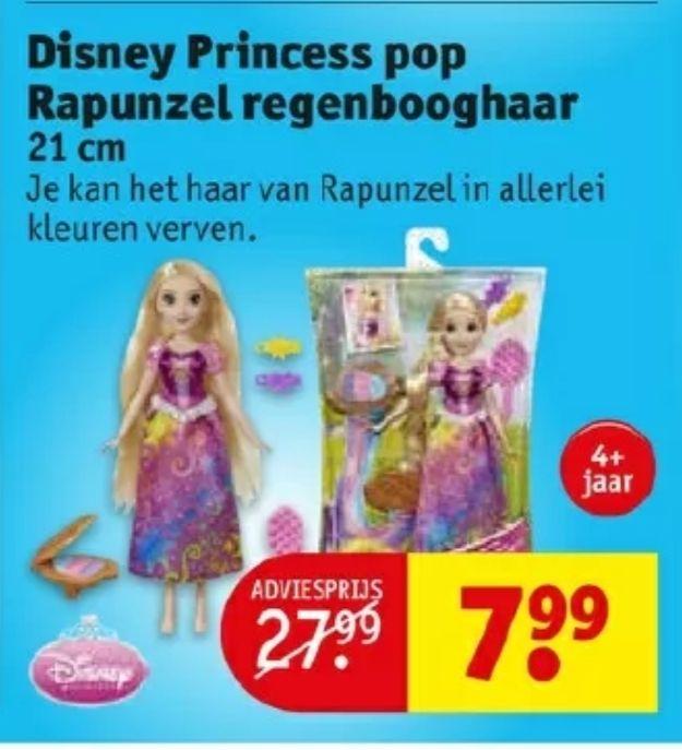 Disney Prinses Rapunzel - regenbooghaar € 7,99 @ Kruidvat
