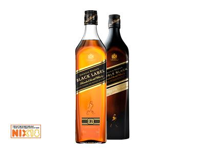 10 € korting op Johnnie Walker Black of Double Black. bij Hoogvliet van 11 t/m 17 maart op flessen van 0.7 liter