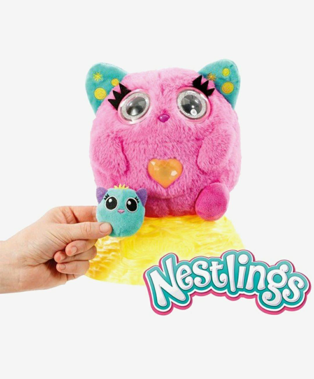 Nestlings Roze Interactieve knuffel