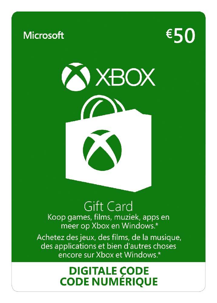 Tijdelijk 8% korting op giftcards (Xbox Live Giftcard €50) @ Gamivo