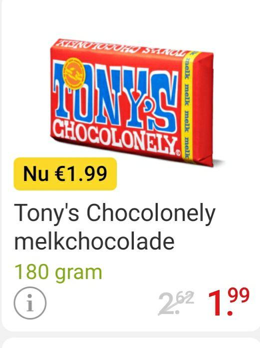 Tony's Chocolonely €1,99 per stuk @Picnic