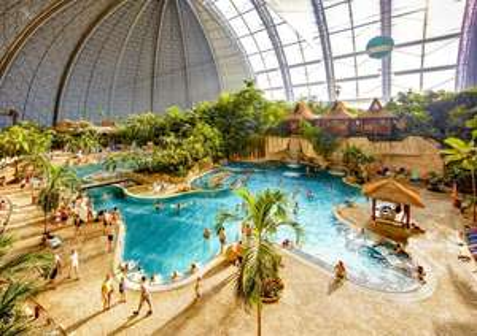 Tropical Islands (sauna + waterpark + attracties + ontbijt) overnachting in safaritent voor 2 p. voor €98 p.n.