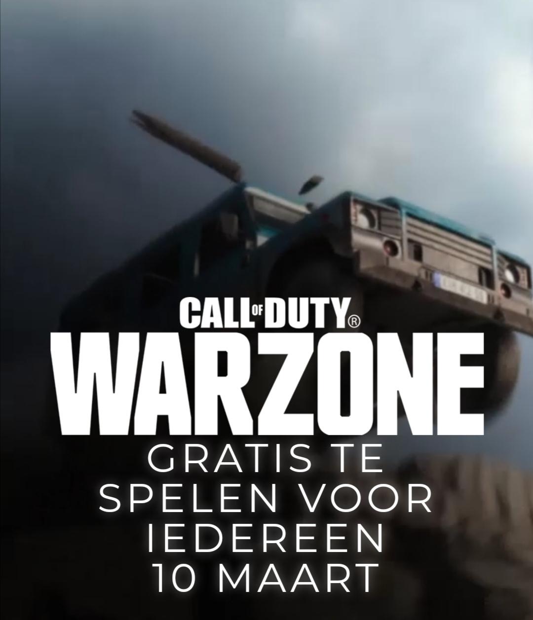 Call of Duty Warzone vanaf morgen gratis voor PS4, Xbox One, PC (Combat Pack voor PS+)