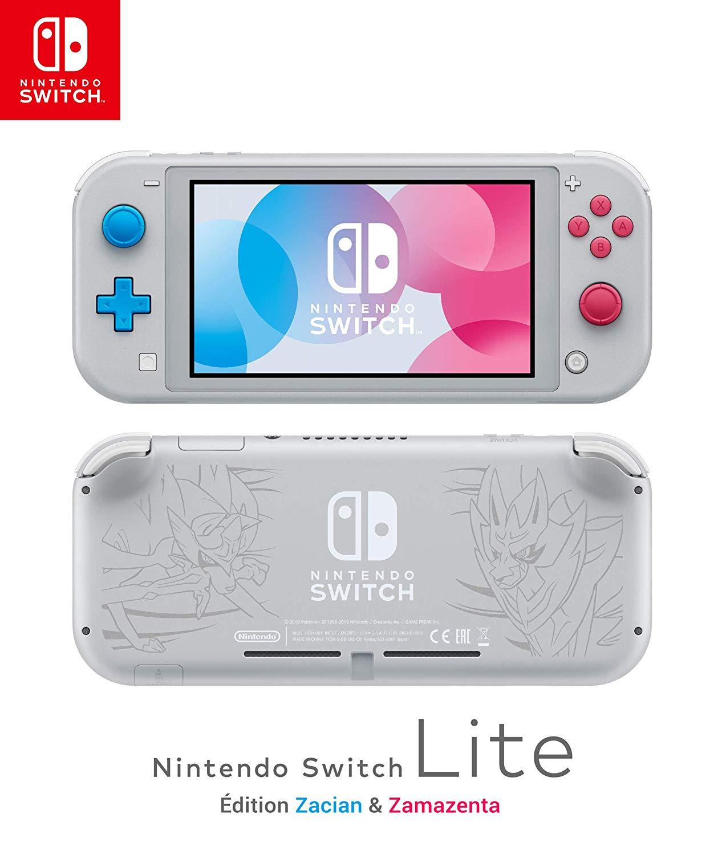 Nintendo Switch Lite Pokémon Zacian & Zamazenta editie voor €192,17 @ amazon.de