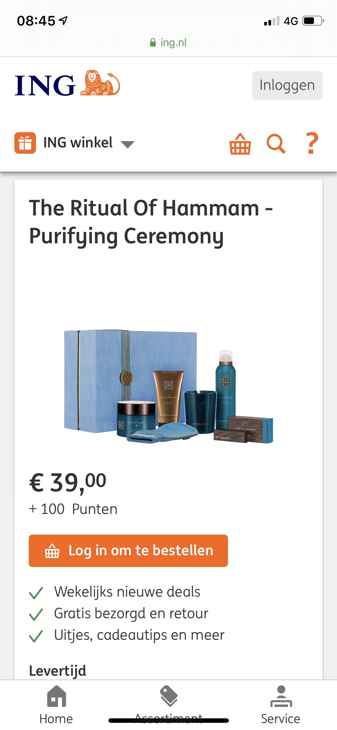 Rituals hammam pakket XL