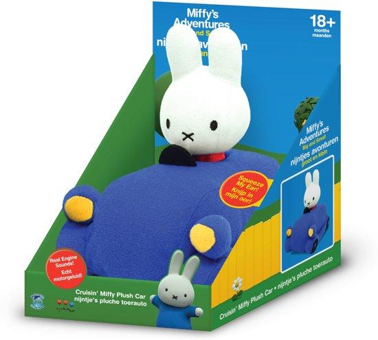 Nijntje pluche toerauto speelgoed met geluid voor €5,79 @ bol.com